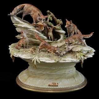 "Antique Antonio Borsato ""Fox Hunting"" Group"