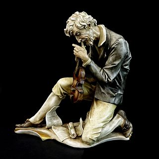 "Antonio Borsato ""Violinist"" Porcelain Figurine"