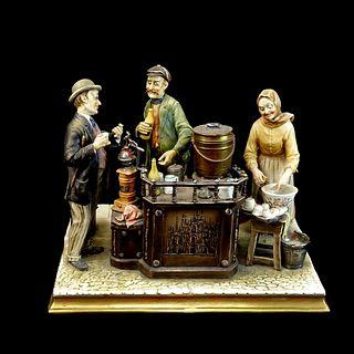 "Antonio Borsato ""Cafe Expresso"" Porcelain Figurine"