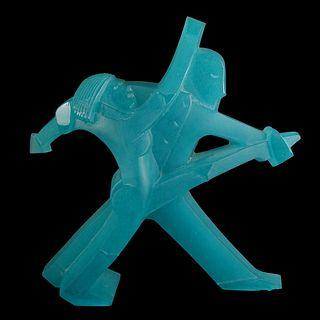Daum and Dan Dailey Art Glass Sculpture
