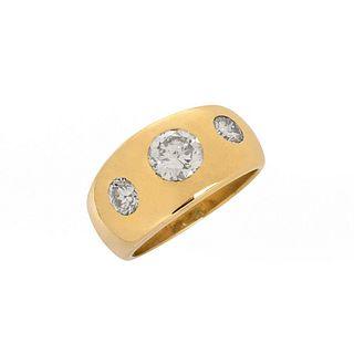 Diamond and 14K Gypsy Ring