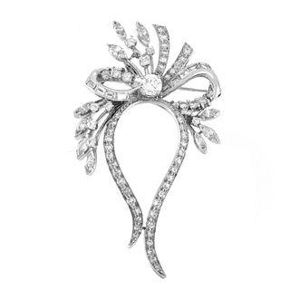 Diamond and Platinum Pendant / Brooch
