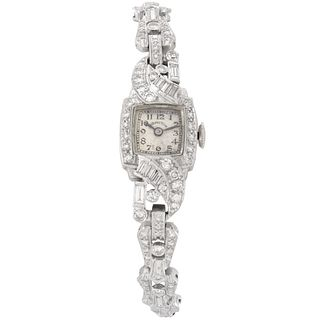 Art Deco Diamond and Platinum Watch