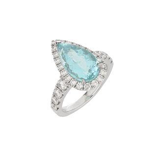 Tourmaline, Diamond and 18K Ring