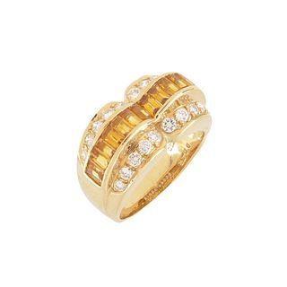Sapphire, Diamond and 18K Ring