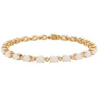 Opal and 14K Bracelet