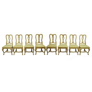 Eight (8) Baker Furniture Dining Chairs