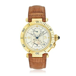 Cartier Pasha Seatimer GMT Power Reserve in 18K Gold