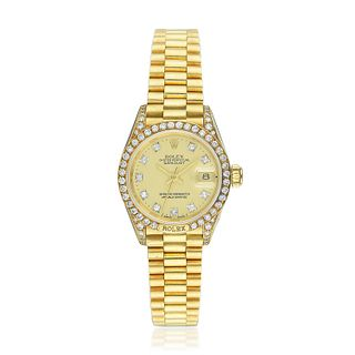Rolex Crown Collection Ladies' President in 18K Gold