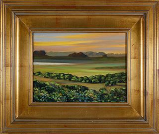"Illya Kagan Oil on Canvas, ""Hither Creek"""