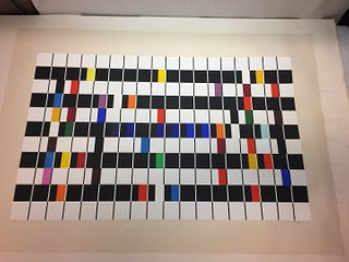 """Yaacov Agam Silkscreen Serigraph Print """"One And Another"""" Signed, Ltd 15/180"""