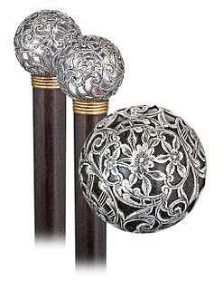 Hard Stone, Silver and Gold Dress Cane
