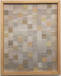 Framed Original Warp Ikat Silk Textile
