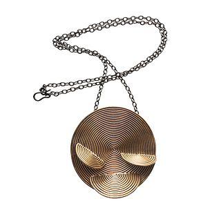 Medallion Necklace - Bronze