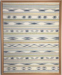 Framed Ikat Silk Textile