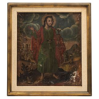 John the Evangelist, Mexico, Late 17th century, Oil on canvas
