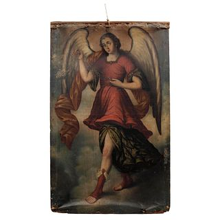 Pair of Archangels, Mexico, 18th century, Oil on canvas.