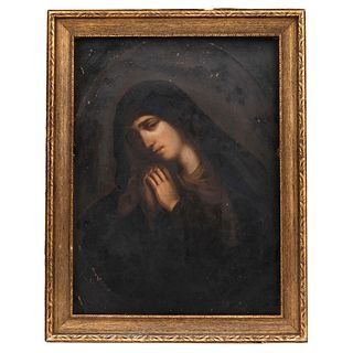Our Lady of Solitude, Mexico, 18th century, Oil on copper sheet