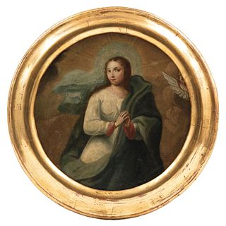 Immaculate Conception, Mexico, 19th century, Oil on wood