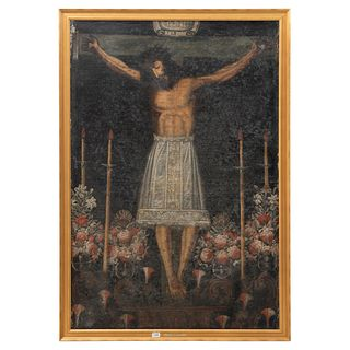 CRISTO DE LOS TEMBLORES, Peru, 18th century, Cuzqueña School, Oil on canvas