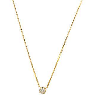 DIAMOND CHOKER. 18K YELLOW GOLD