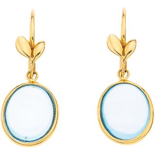 TOPAZ EARRINGS. 18K YELLOW GOLD. TIFFANY & CO. PALOMA PICASSO OLIVE LEAF COLLECTION