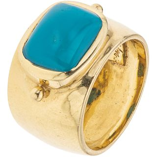 TURQUOISE RING. 18K YELLOW GOLD. TANYA MOSS