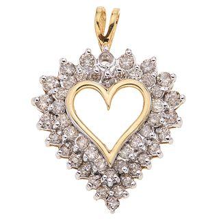 DIAMONDS PENDANT. 10K YELLOW GOLD