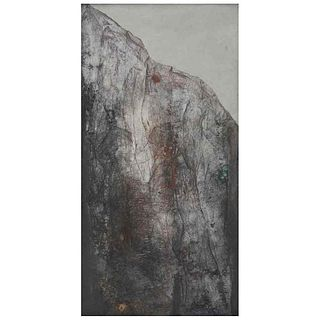 "IRMA PALACIOS, Sierra, Signed and dated 85, Oil and sand on canvas, 47.2 x 23.6"" (120 x 60 cm)"
