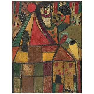 "SERGIO HERNÁNDEZ, Circo, Signed on front, Signed and dated 199, 6-12-83 on back, Oil on canvas, 25.5 x 19.6"" (65 x 50 cm)"