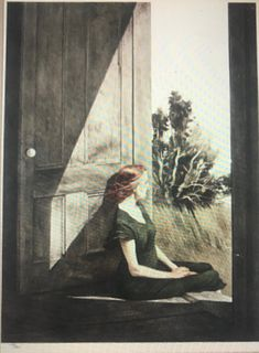 Andrew N. Wyeth Collotype, Christina Olson, 1956