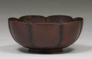 Karl F. Leinonen & Sons - Boston Hammered Copper Bowl