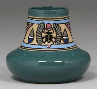 Rare Brush McCoy King Tut Vase c1923