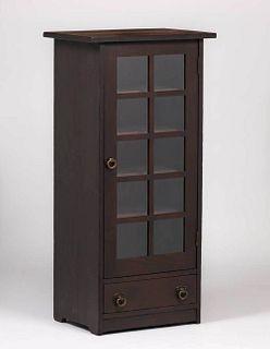 Narrow Grand Rapids One-Door Bookcase c1905