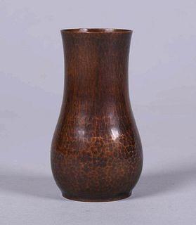Small Dirk van Erp Hammered Copper Vase c1913-1914