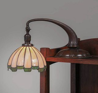 Handel Leaded Glass Piano Lamp c1910