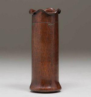 Roycroft Hammered Copper Bellflower Cylinder Vase