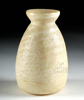 Beautiful Egyptian Banded Alabaster Vessel