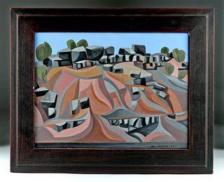Framed Joel Greene Painting of New Mexico - 2000