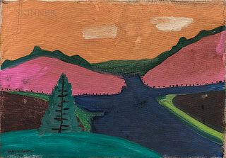 Attributed to Milton Avery (American, 1885-1965)      Winter Has Ended