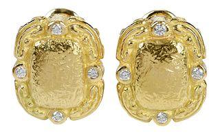Katy Briscoe 18kt. Diamond Earrings