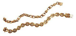Two 14kt. Link Bracelets