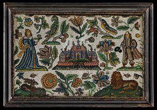 Charles II Beadwork Panel