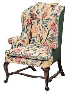 Fine Queen Anne Walnut Easy Chair