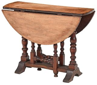 Rare William and Mary Turned Gateleg Table