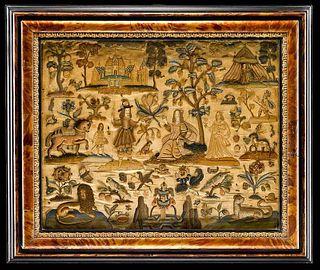 Charles II Silk and Raised Needlework