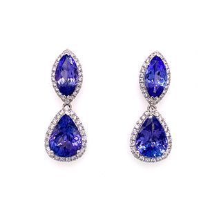 PlatinumTanzanite & Diamonds Earrings