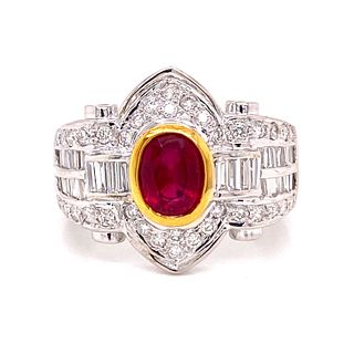 18k No Heat Ruby Ring