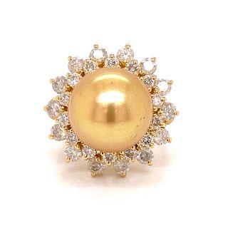 14k Gold South Sea Pearl RingÊ