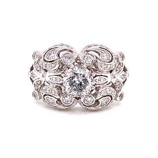 Platinum Retro Diamond RingÊ